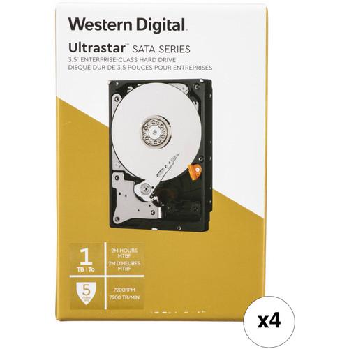 "WD 1TB Ultrastar 7200 rpm SATA 3.5"" Internal Data Center HDD Kit (Retail, 4-Pack)"