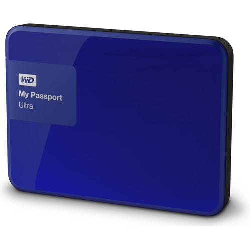 WD 2 x 1TB My Passport Ultra USB 3.0 Secure Portable Hard Drive Kit (Blue & Berry)