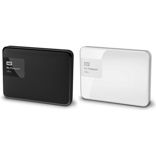 WD 2 x 1TB My Passport Ultra USB 3.0 Secure Portable Hard Drive Kit (Black & White)