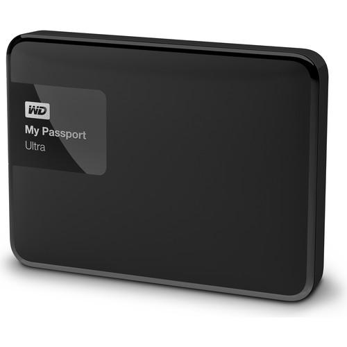 WD 2 x 2TB My Passport Ultra USB 3.0 Secure Portable Hard Drive Kit (Black & White)