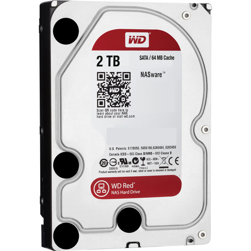 WD 2TB Network HDD Retail Kit (4-Pack, WD20EFRX, Red Drives)