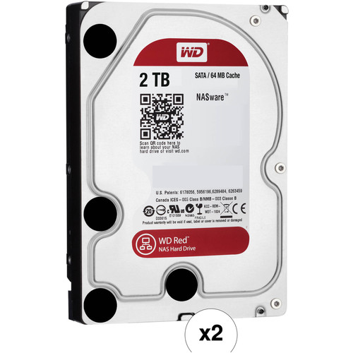 WD 2TB Network HDD Retail Kit (2-Pack, WD20EFRX, Red Drives)