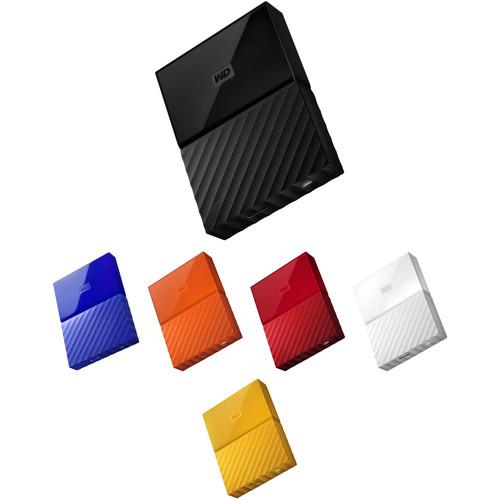 WD 2TB My Passport USB 3.0 Secure Portable Hard Drive Kit (Multiple Colors)
