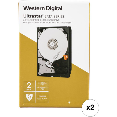 "WD 2TB Ultrastar 7200 rpm SATA 3.5"" Internal Data Center HDD Kit (Retail, 2-Pack)"
