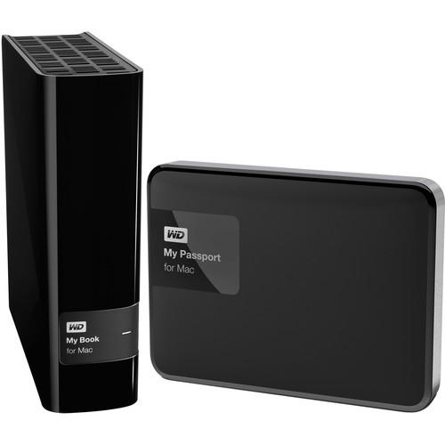 WD 4TB My Book & 2TB My Passport External Hard Drive Kit for Mac