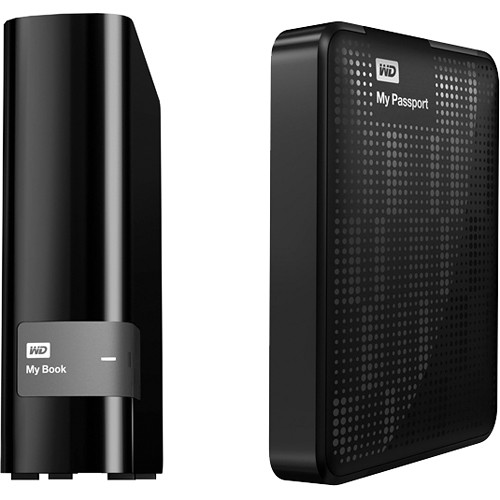 WD 4TB My Book Desktop HDD with 2TB My Passport Portable HDD Kit