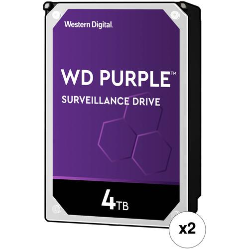 """WD 4TB Purple 5400 rpm SATA III 3.5"""" Internal Surveillance HDD Retail Kit (2-Pack)"""