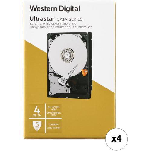 "WD 4TB Ultrastar 7200 rpm SATA 3.5"" Internal Data Center HDD Kit (Retail, 4-Pack)"