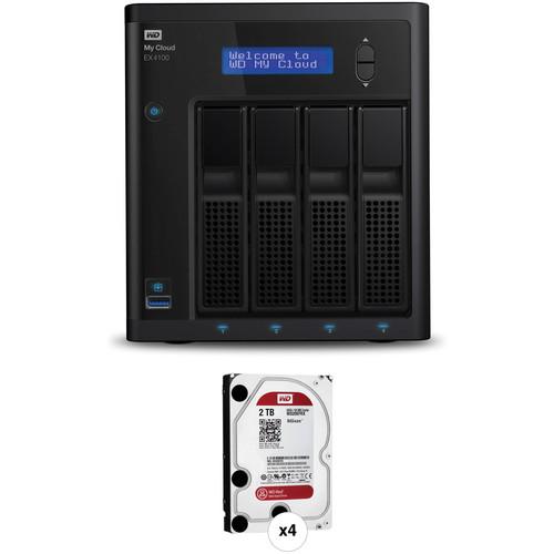 WD My Cloud Expert Series EX4100 8TB (4 x 2TB) NAS Kit