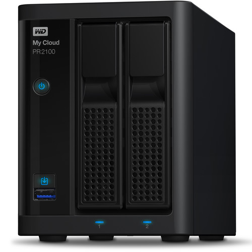 WD My Cloud PR2100 4TB 2-Bay NAS Server with Ethernet Cable Kit
