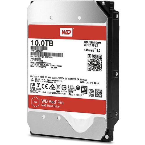 """WD 10TB Red Pro 7200 rpm SATA III 3.5"""" Internal NAS HDD"""