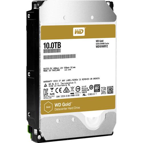 """WD 10TB Gold 7200 rpm SATA III 3.5"""" Internal Datacenter HDD"""