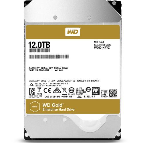 """WD 12TB Gold 7200 rpm SATA III 3.5"""" Internal Datacenter HDD"""