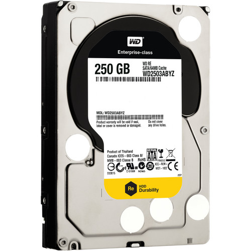"WD 250GB Re Datacenter 7200 rpm SATA III 3.5"" Internal HDD"