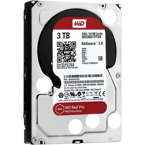 """WD 3TB Red Pro 7200 rpm SATA III 3.5"""" Internal NAS HDD"""