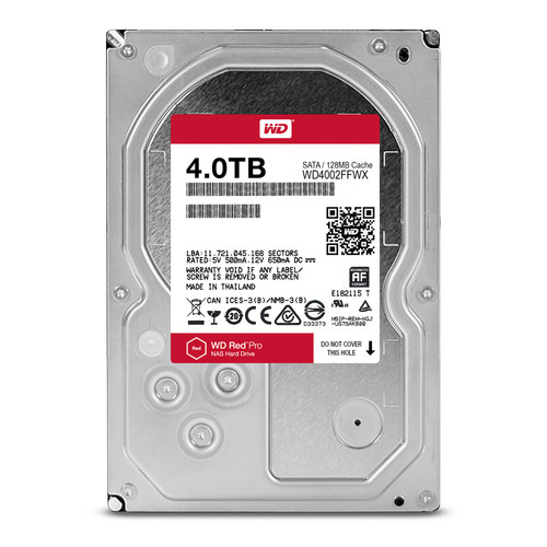 "WD 4TB Red Pro 7200 rpm SATA III 3.5"" Internal NAS HDD"
