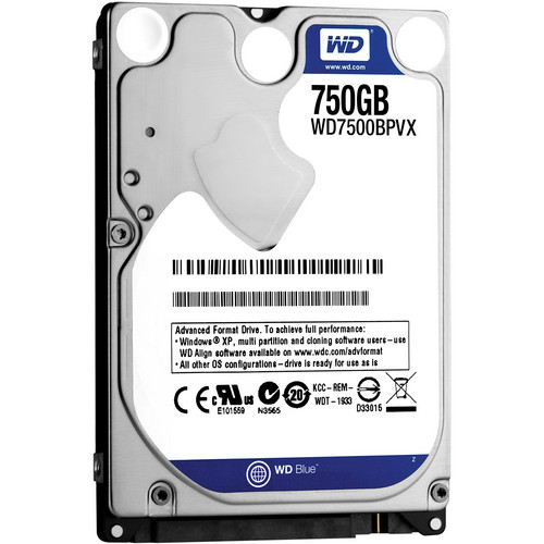 "WD 750GB Blue 5400 rpm 2.5"" SATA III Internal Mobile Drive"