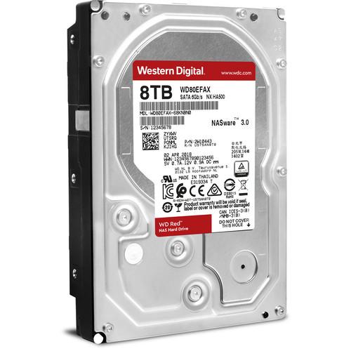 "WD 8TB Red 5400 rpm SATA III 3.5"" Internal NAS HDD"