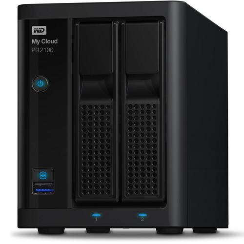 WD My Cloud Pro Series 12TB PR2100 2-Bay NAS Server (2 x 6TB)