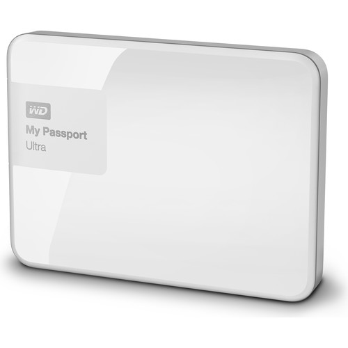 WD 2TB My Passport Ultra USB 3.0 Secure Portable Hard Drive (White)