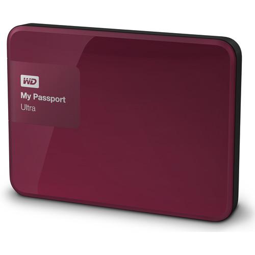 WD 3TB My Passport Ultra USB 3.0 Secure Portable Hard Drive (Berry)