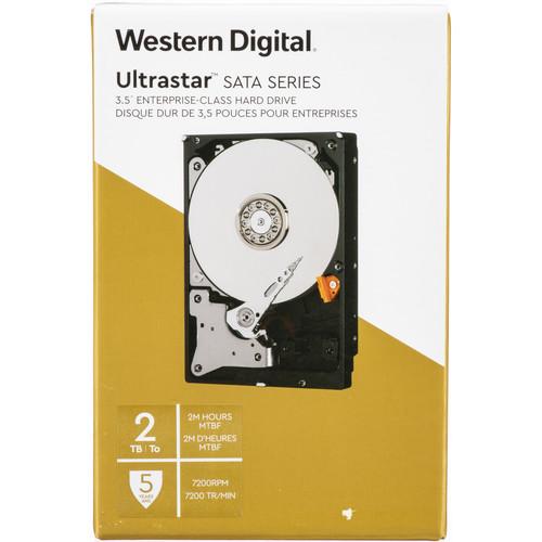 "WD 2TB Ultrastar 7200 rpm SATA 3.5"" Internal Data Center HDD (Retail)"