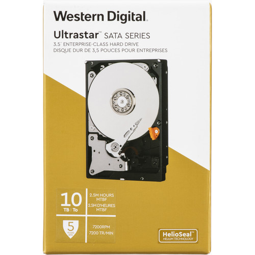 "WD 10TB Ultrastar 7200 rpm SATA 3.5"" Internal Data Center HDD (Retail)"