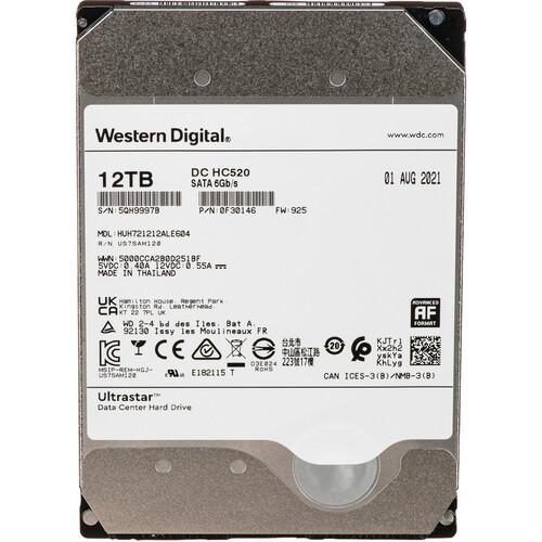 "WD 12TB Ultrastar 7200 rpm SATA 3.5"" Internal Data Center HDD (Retail)"