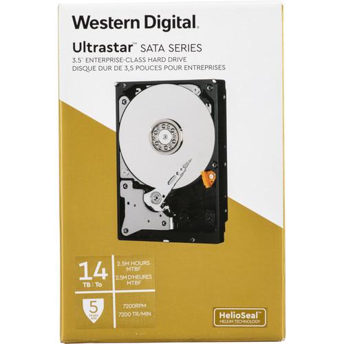 "WD 14TB Ultrastar 7200 rpm SATA 3.5"" Internal Data Center HDD (Retail)"