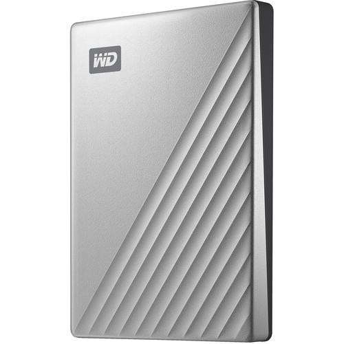 WD 1TB My Passport Ultra USB 3.0 Type-C External Hard Drive (Silver)