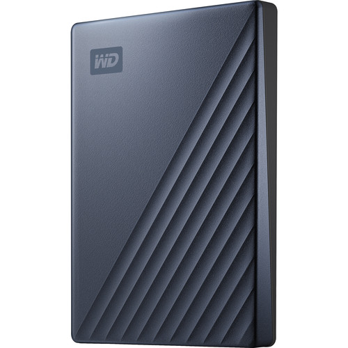 WD 2TB My Passport Ultra USB 3.0 Type-C External Hard Drive (Blue)