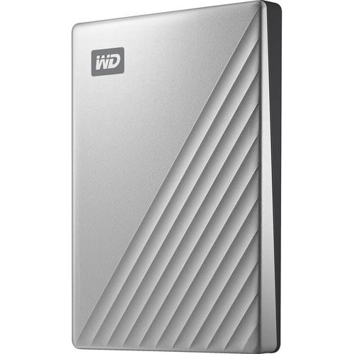 WD 2TB My Passport Ultra USB 3.0 Type-C External Hard Drive (Silver)