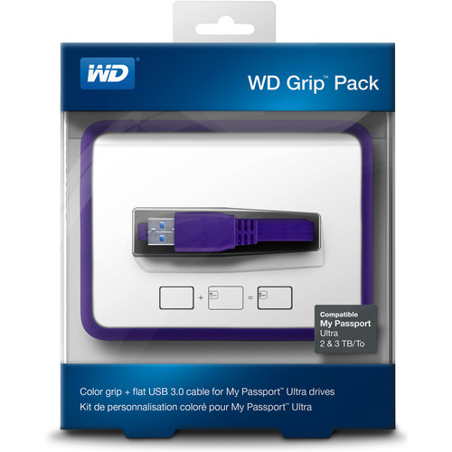 WD Grip Pack for 2TB & 3TB My Passport Ultra (Grape)