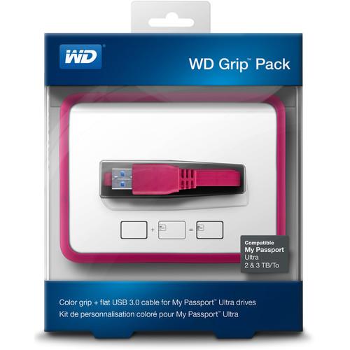 WD Grip Pack for 2TB & 3TB My Passport Ultra (Fuchsia)