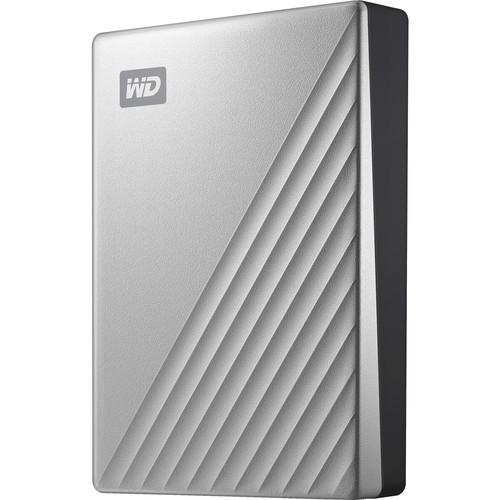 WD 4TB My Passport Ultra USB 3.0 Type-C External Hard Drive (Silver)