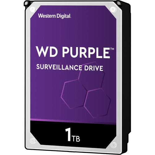 """WD 1TB Purple 5400 rpm SATA III 3.5"""" Internal Surveillance HDD Retail Kit"""