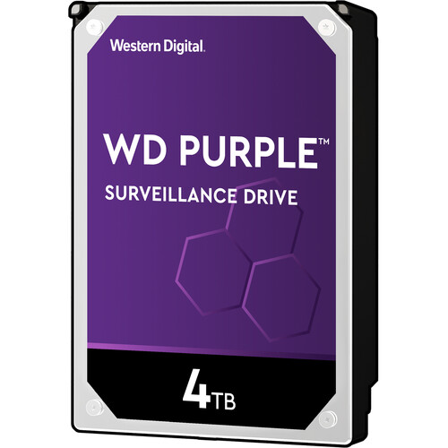"WD 4TB Purple 3.5"" Surveillance Internal Retail Hard Drive (WD40PURX)"