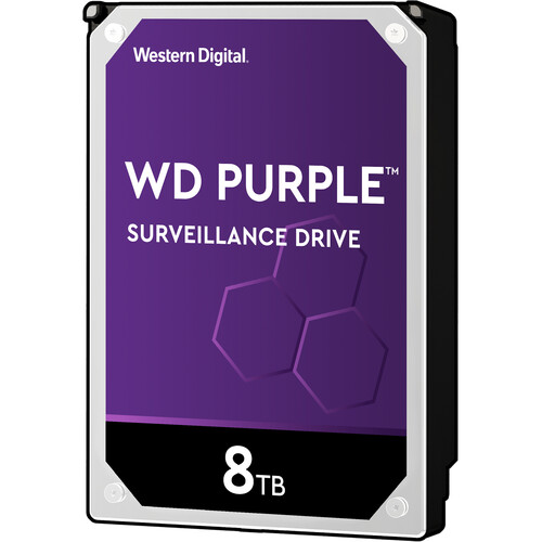 "WD 8TB Purple 5400 rpm SATA III 3.5"" Internal Surveillance Hard Drive (Retail)"