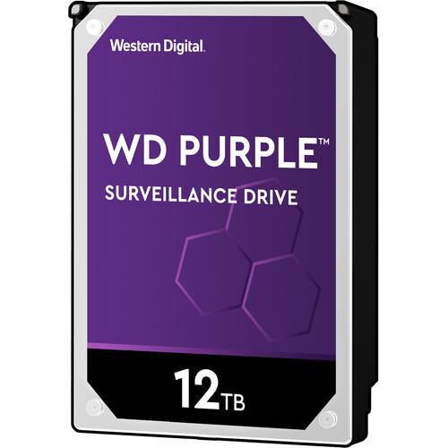"""WD 12TB Purple 7200 rpm SATA III 3.5"""" Internal Surveillance Hard Drive (Retail)"""