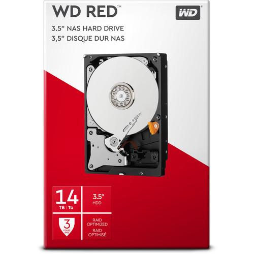 """WD 14TB Red 5400 rpm SATA III 3.5"""" Internal NAS HDD Retail Kit"""