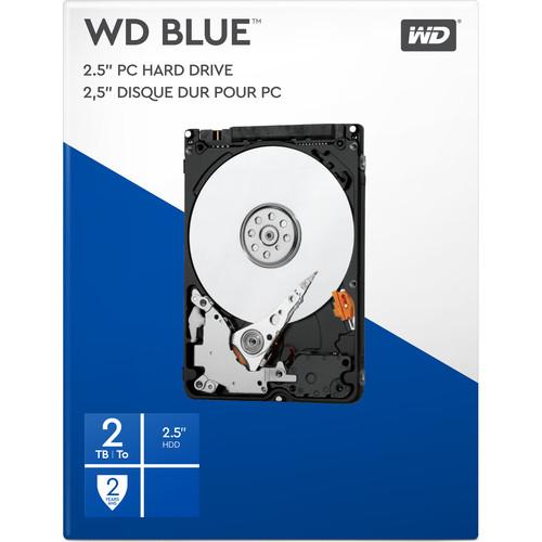 """WD 2TB Blue 5400 rpm 2.5"""" SATA III Internal HDD Retail Kit"""