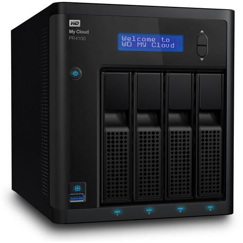 WD My Cloud PR4100 32TB 4-Bay NAS Server (4 x 8TB)