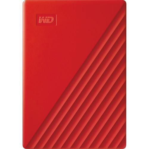 WD 4TB My Passport USB 3.2 Gen 1 External Hard Drive (2019, Red)