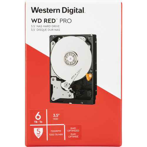 "WD 6TB Red Pro 7200 rpm SATA III 3.5"" Internal NAS HDD (Retail)"