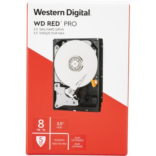 "WD 8TB Red Pro 7200 rpm SATA III 3.5"" Internal NAS HDD (Retail)"