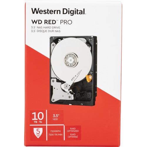 "WD 10TB Red Pro 7200 rpm SATA III 3.5"" Internal NAS HDD (Retail)"