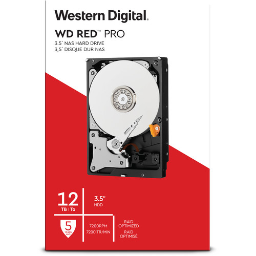 "WD 12TB Red Pro 7200 rpm SATA III 3.5"" Internal NAS HDD (Retail)"