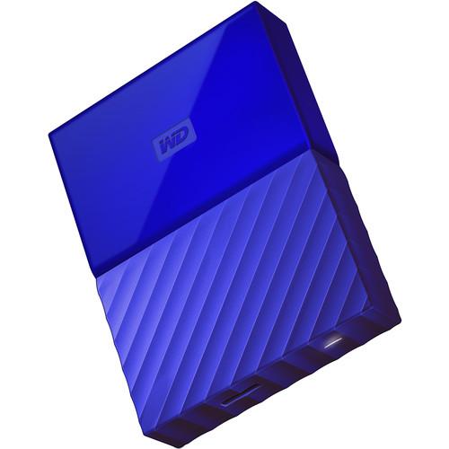WD 2TB My Passport USB 3.0 Secure Portable Hard Drive (Blue)