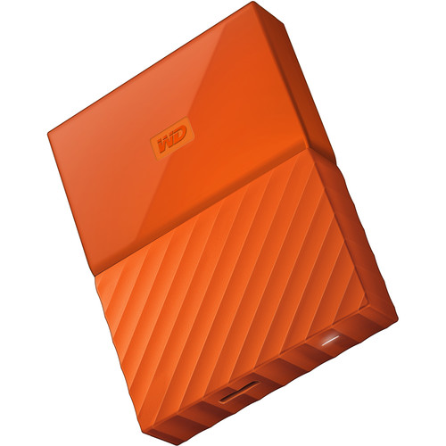 WD 2TB My Passport USB 3.0 Secure Portable Hard Drive (Orange)