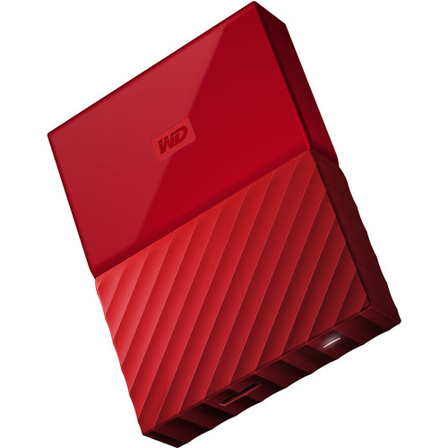 WD 2TB My Passport USB 3.0 Secure Portable Hard Drive (Red)